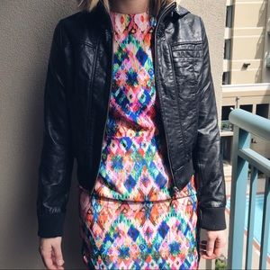 Sparkle and Fade Vegan Leather Jacket